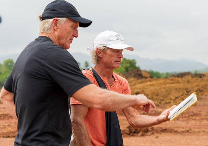 Greg Norman On Site Visit