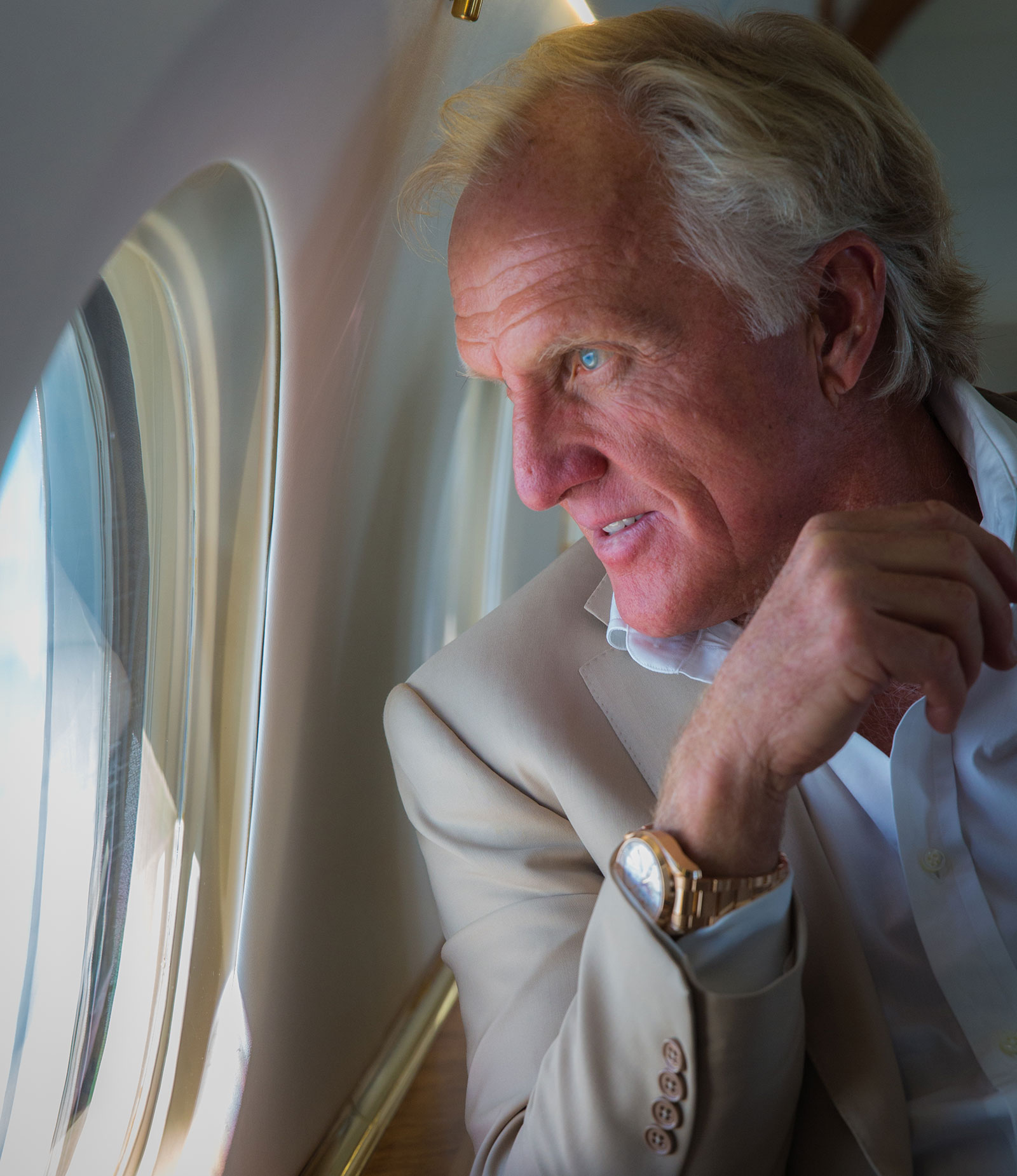 Greg Norman in Private Jet
