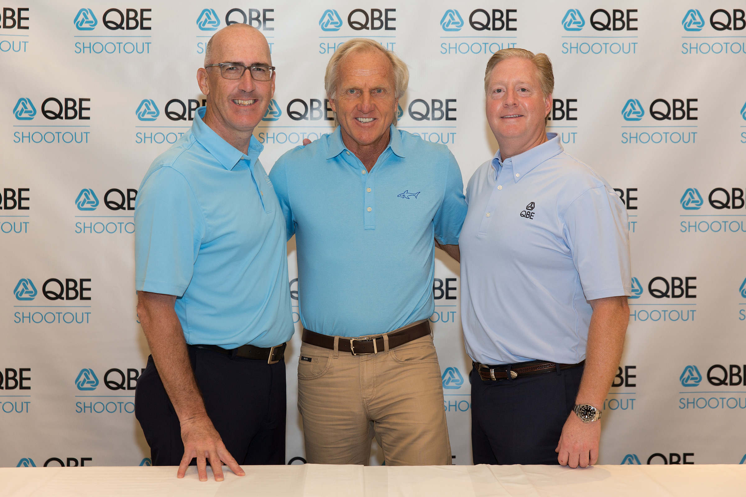 Greg Norman with QBE Executives
