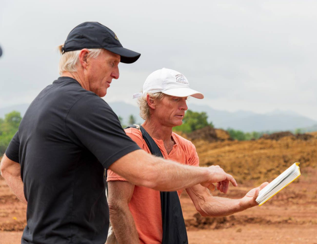 Greg Norman Visiting Site