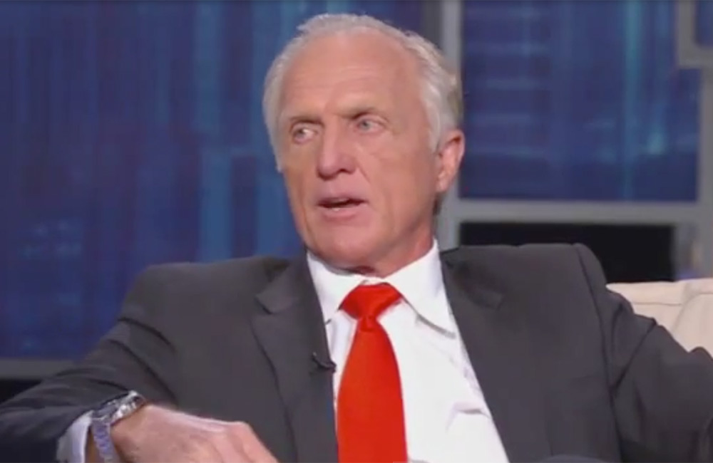 Greg Norman Plays 'Hit And Run' On Centerstage